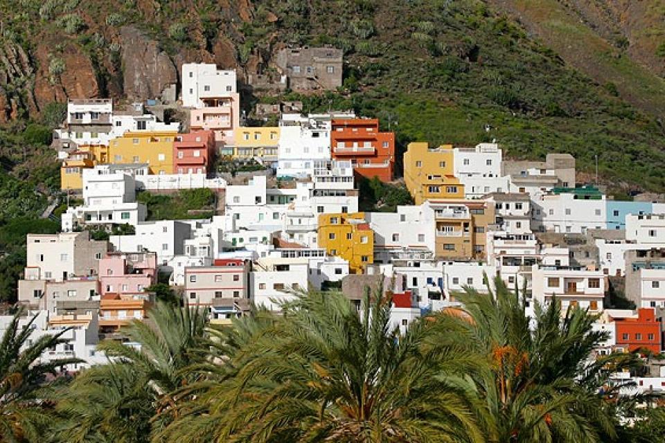 Tenerife , La plage de Las Teresitas , Le village de San Andres , Espagne