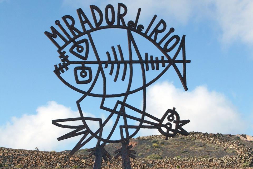 Lanzarote , Le Mirador del Rio , Une œuvre de César Manrique , Espagne