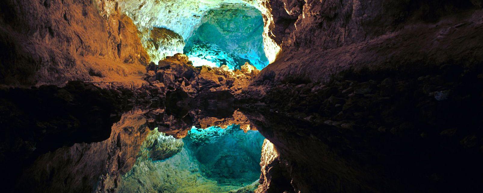 Lanzarote , Cueva de los Verdes , España
