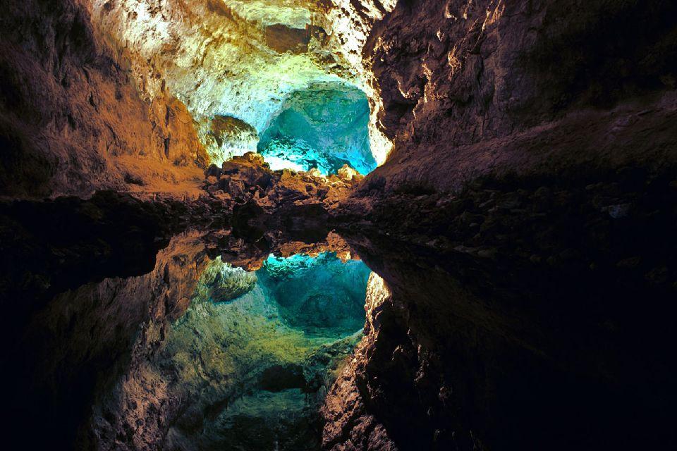 Lanzarote , Cueva de los Verdes , Spanien