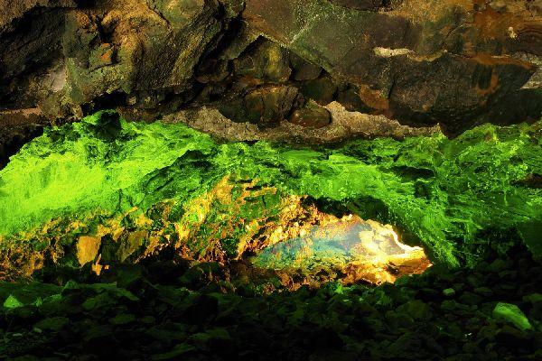 Lanzarote , Jameos del Agua , Le tunnel de l'Atlantide , Espagne