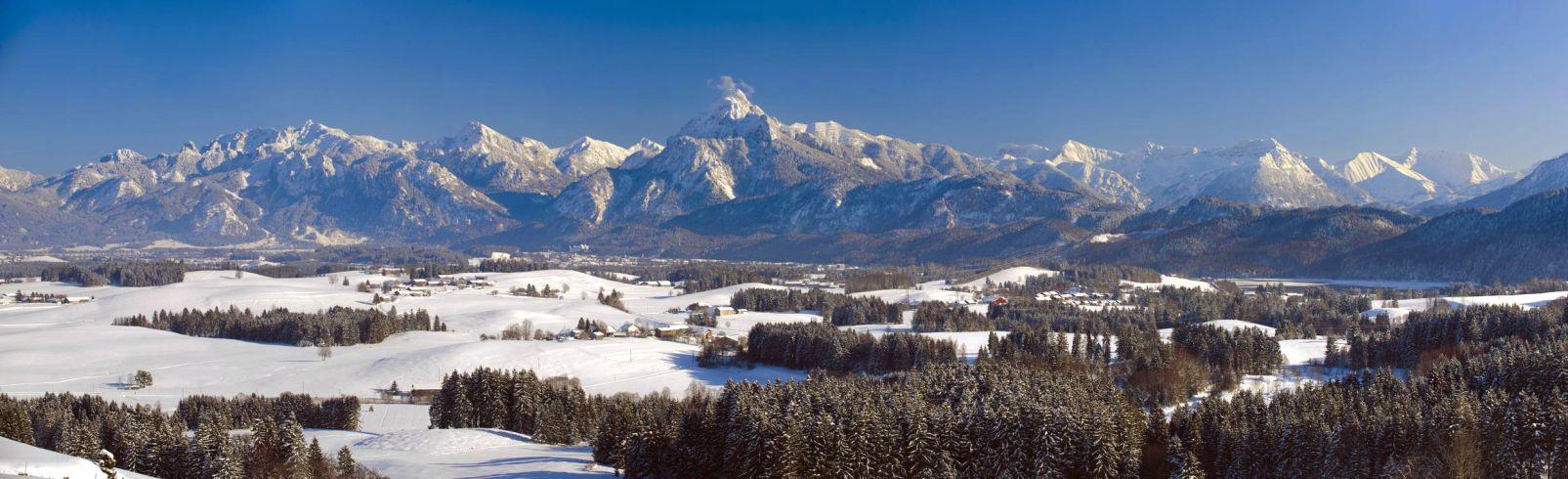 Vistas de los Alpes en el bosque bávaro, El Parque Nacional del Bosque Bávaro, Los paisajes, Alemania