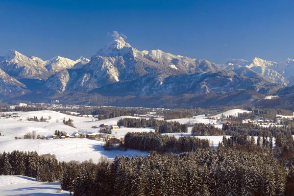 A view of the Alps in the Bavarian forest, The national park of the Bavarian Forest, Landscapes, Germany