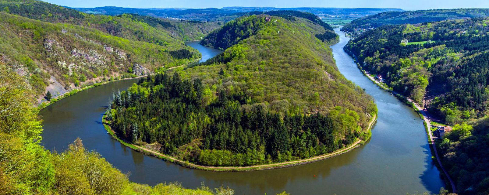 La boucle de la Sarre, La Sarre, Les paysages, Allemagne