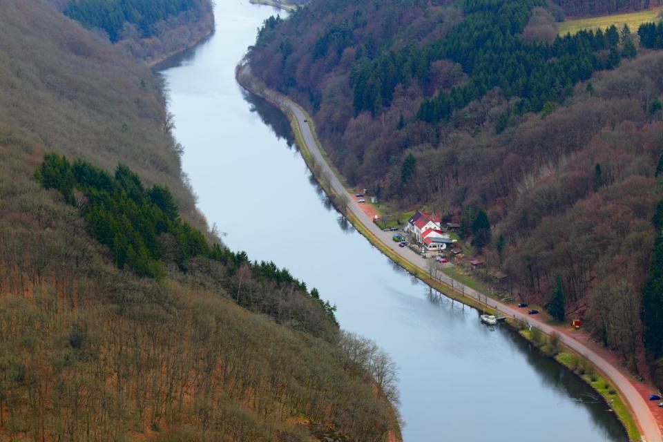 La Sarre , Falaises de la Sarre , Allemagne