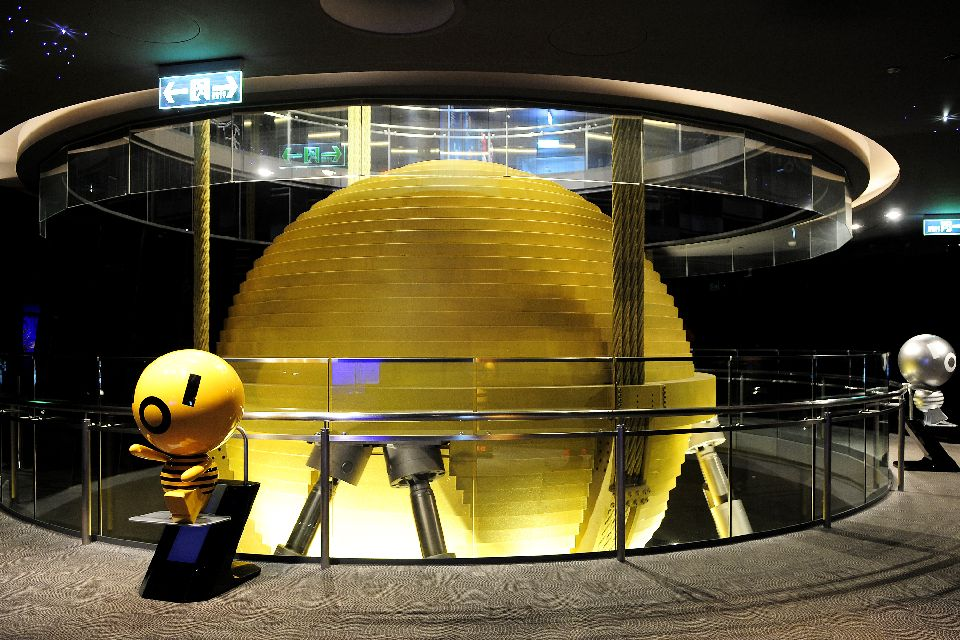 Taipei 101 , Una bola de acero gigantesca , Taiwán