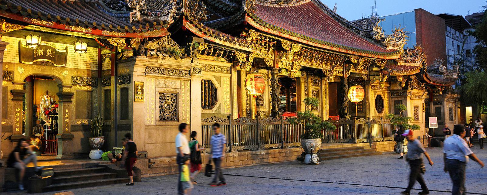Le temple de Longshan, Les monuments, Taïwan