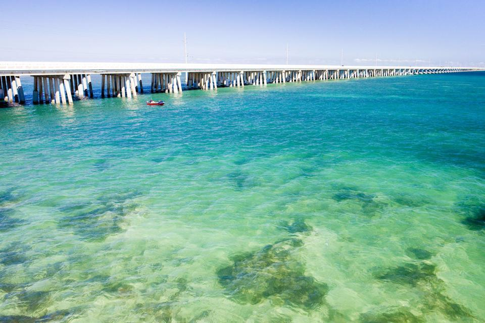 The Florida Keys , The Keys are accessible via road and water , United States of America