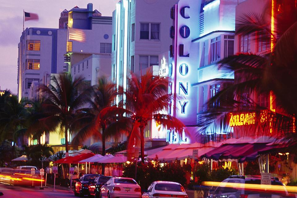 About town in Downtown Miami , South Beach, Miami , United States of America