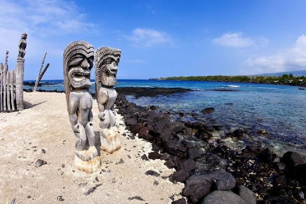 Historical Park of Puuhonua o Honaunau (Hawaii). , United States of America