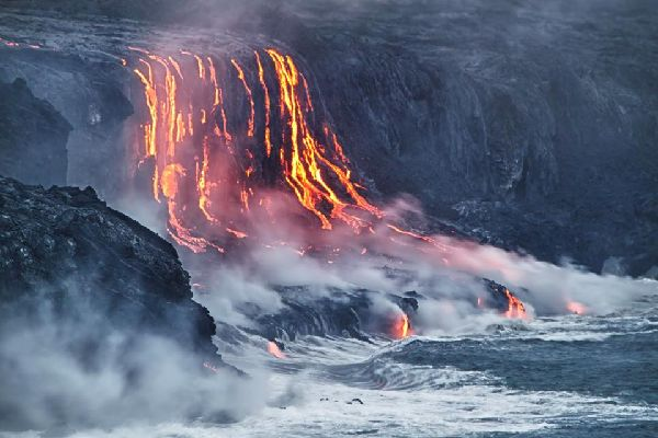 Le Parc national des Volcans (Hawaii) , Etats-Unis