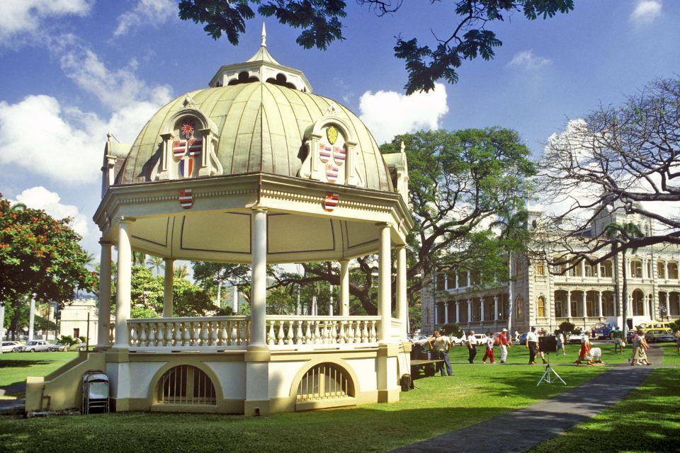 Les arts et la culture, USA, etats-unis, amérique, Hilo, roi, hawai, lolani palace, lolani, statue
