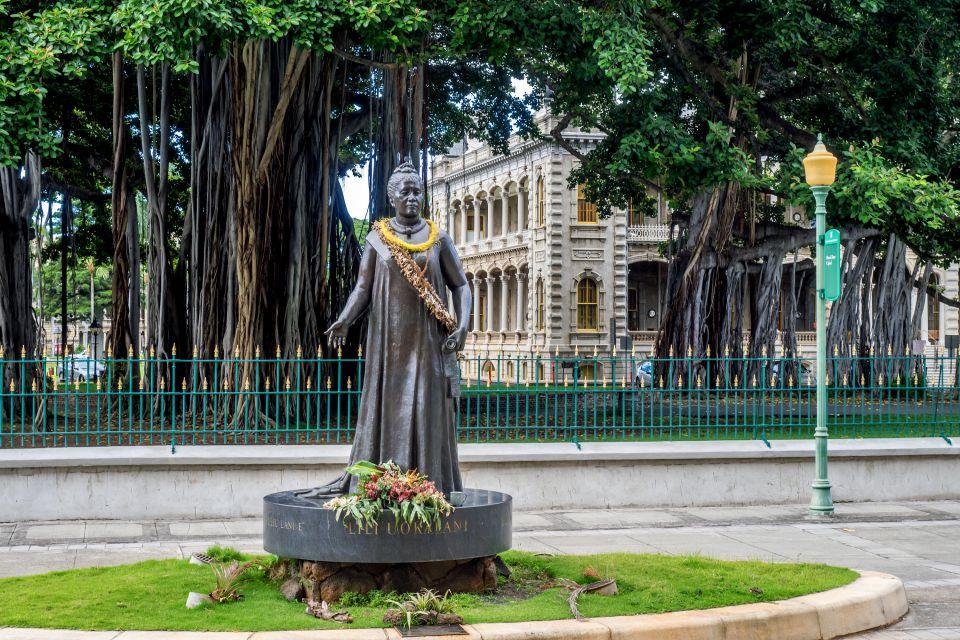 Les arts et la culture, USA, etats-unis, amérique, Hilo, roi, hawai, lolani palace, lolani, statue, reine, Lili'uokalani