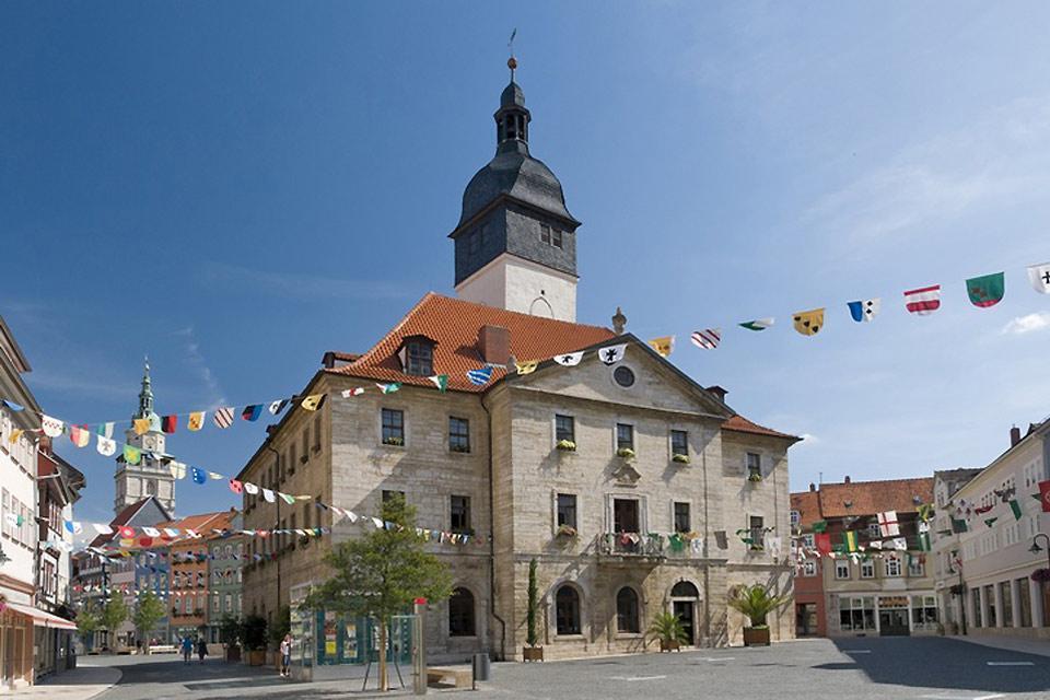 Touristische Kulturrouten , Bad Langensalza in Thüringen , Deutschland