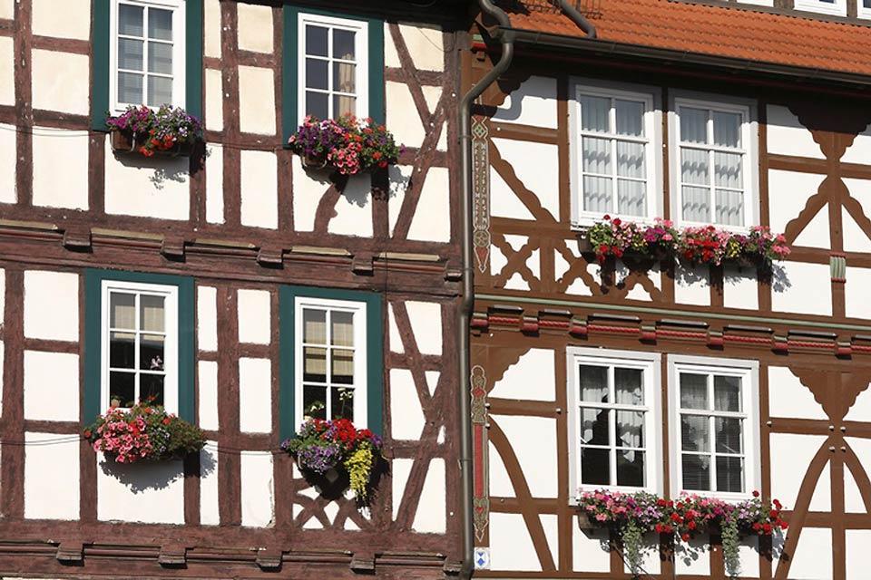 Les routes touristiques culturelles , Une maison à colombage , Allemagne
