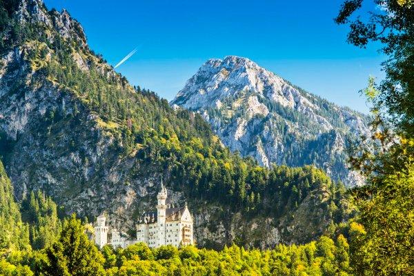 The castles of Louis II of Bavaria. , Neuschwanstein castle , Germany