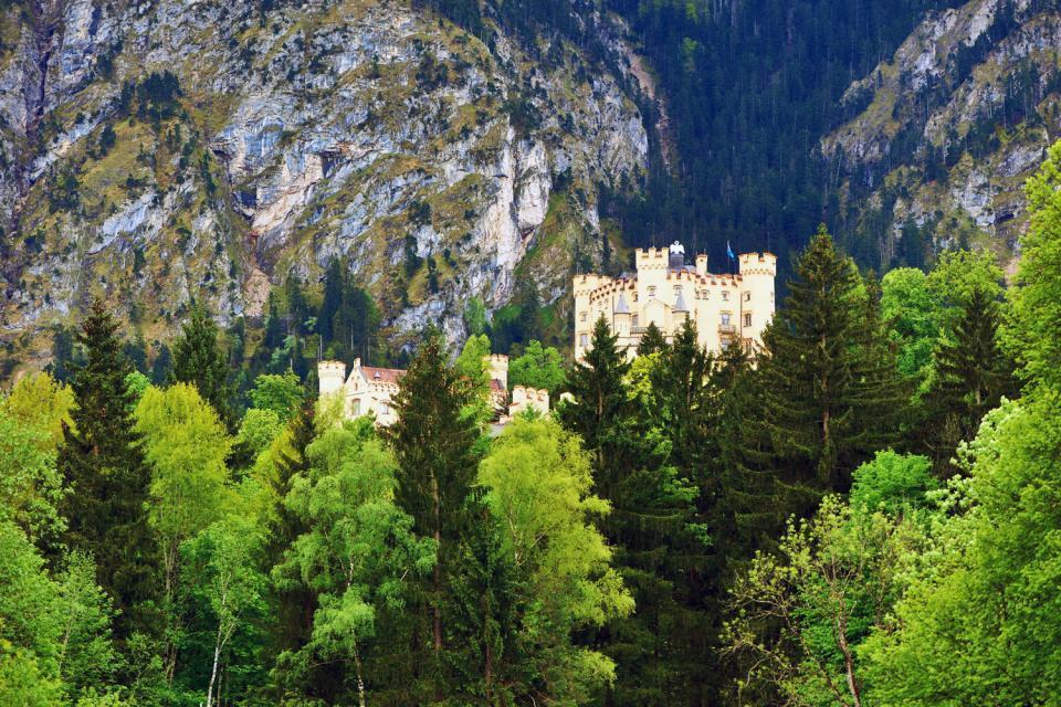 Die Schlösser Ludwigs II. von Bayern , Schloss Neuschwanstein im Schnee , Deutschland