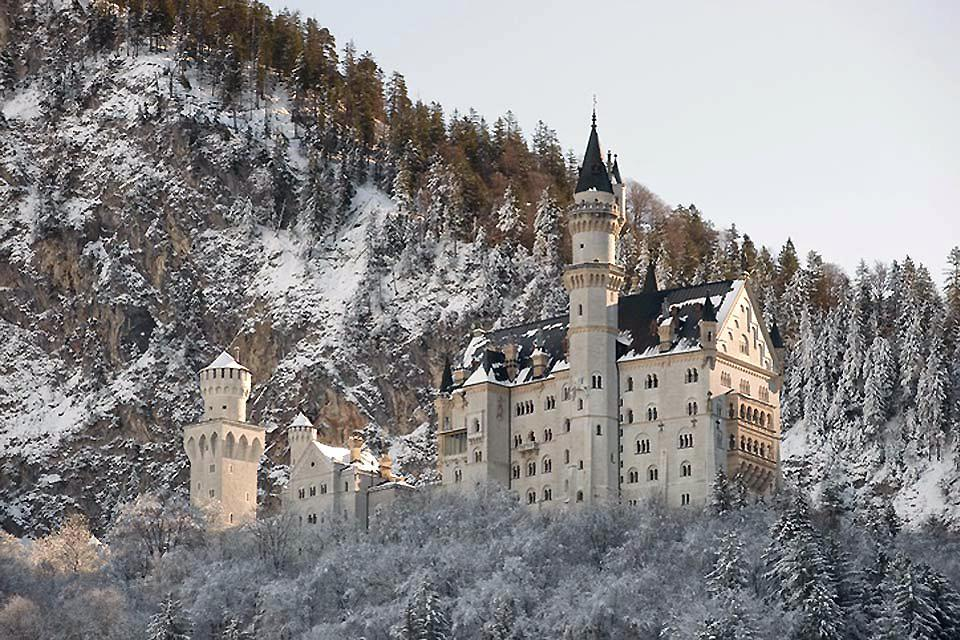 The castles of Louis II of Bavaria. , A view of Neuschwanstein , Germany