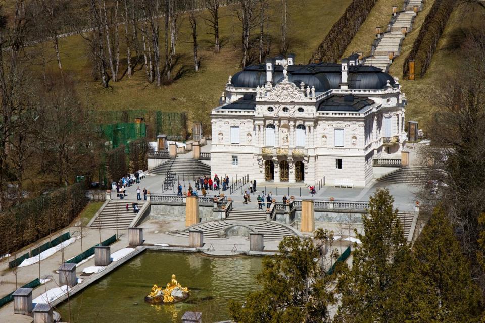 Die Schlösser Ludwigs II. von Bayern , Die Fassade von Schloss Hohenschwangau , Deutschland