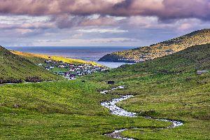 L'île de Vagar , l'île de Vagar , Iles Féroé