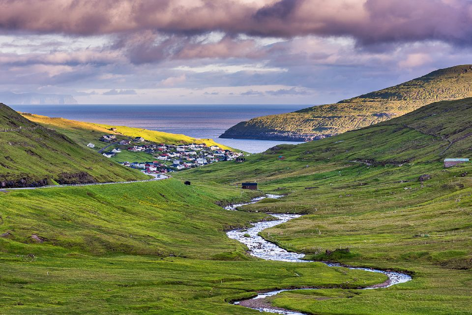 Die Insel Vagar , Färöer
