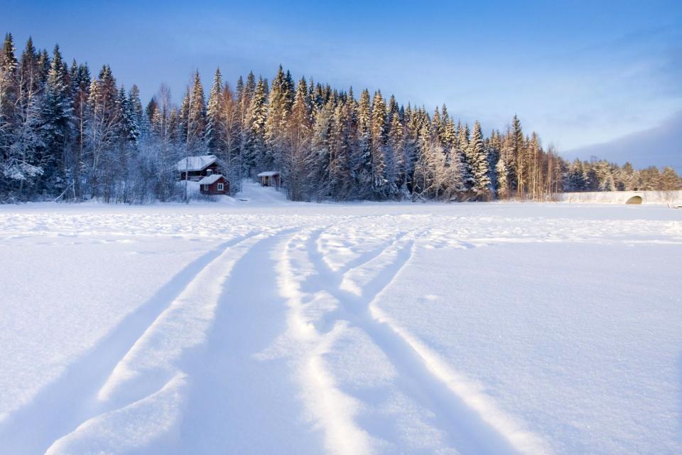 La Laponie , La nuit polaire , Finlande