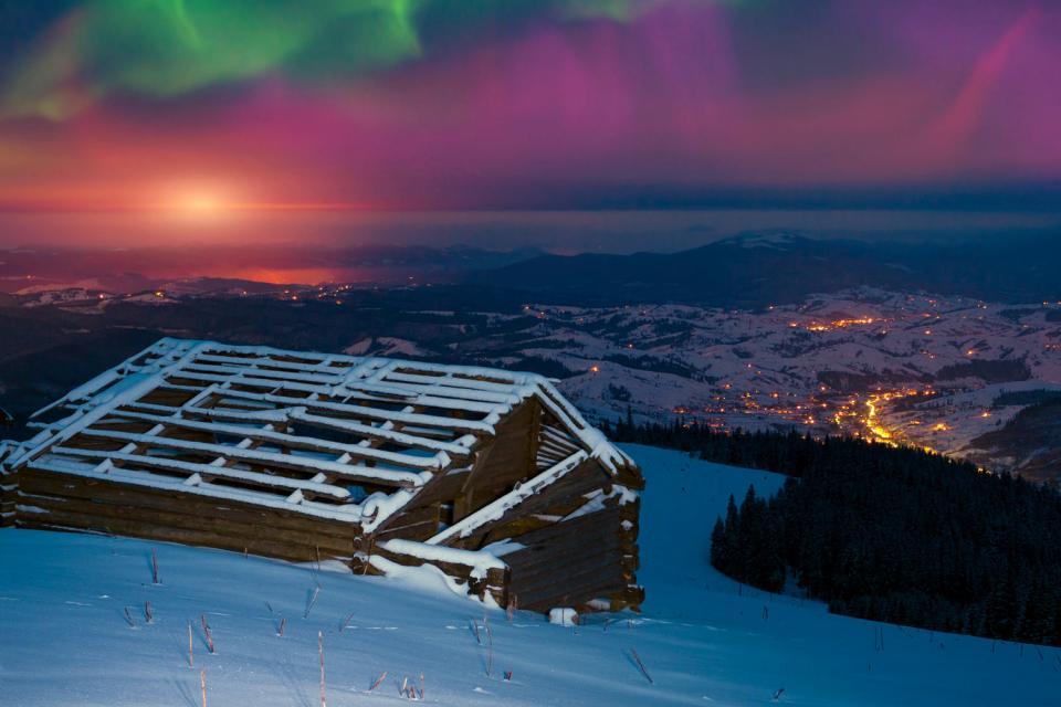 La Laponie , Aurores boréales , Finlande