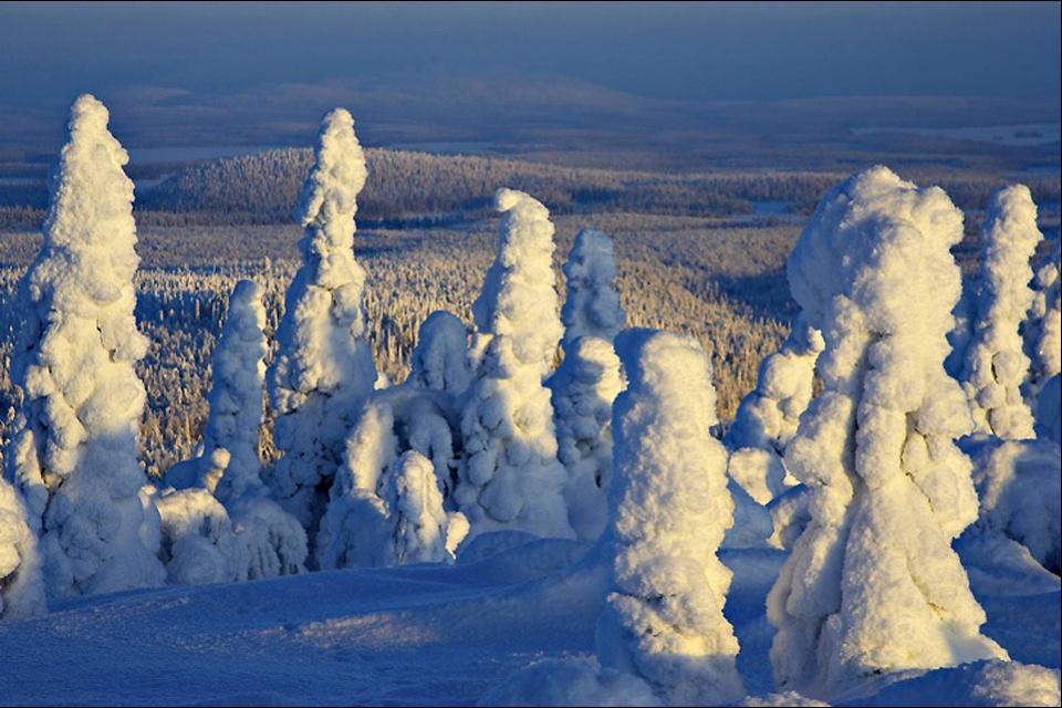 La Laponie , Un épais manteau de neige , Finlande