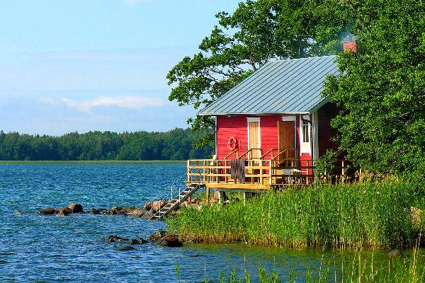El archipiélago de Aland , Una isla habitada del archipiélago de Aland , Finlandia