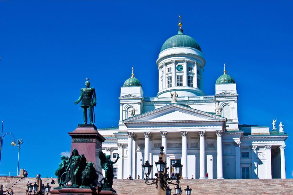 Die Architektur  , Die lutherianische Kathedrale in Helsinki , Finnland