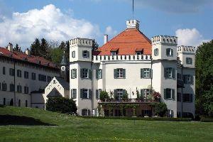 Schloss Possenhofen , Spaziergang am Stadtrand , Deutschland