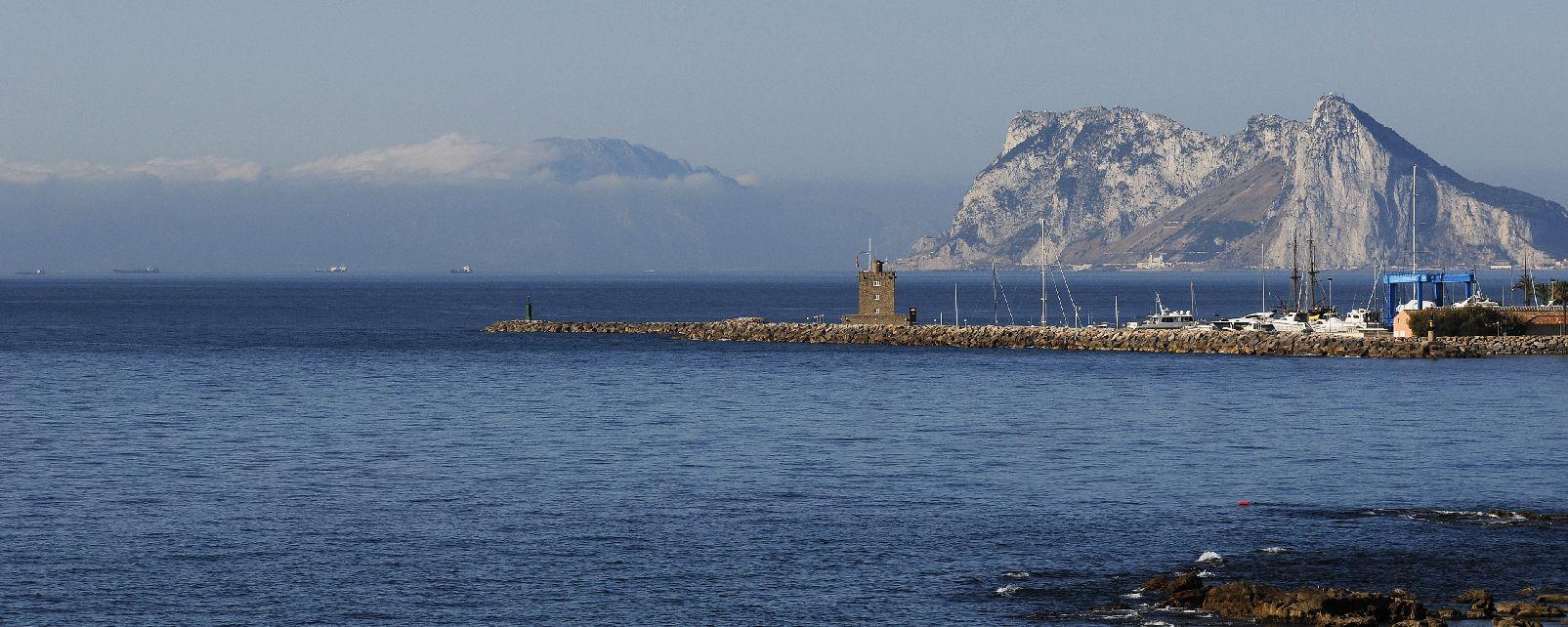 The tip of Europe , Gibraltar