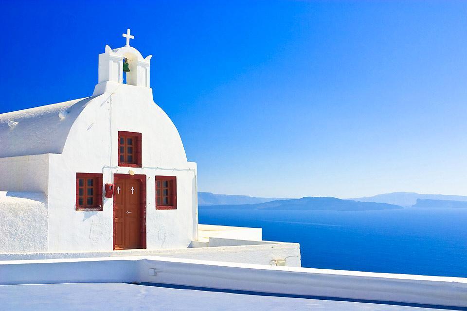Santorin , Accès par la mer , Grèce