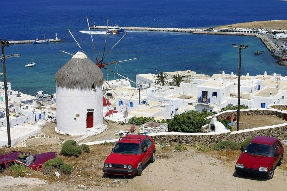Mykonos , Accès piéton , Grèce