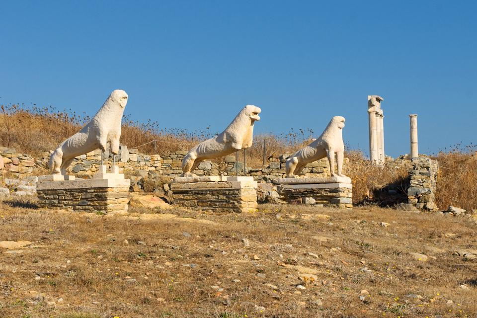Délos , La Terrasse des Lions , Grèce