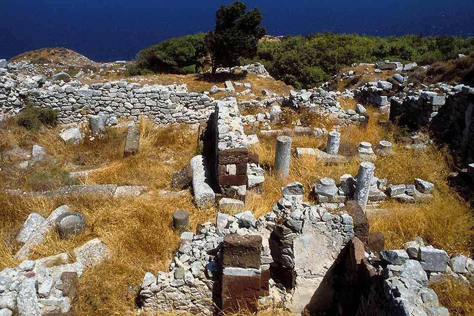 La cité antique de Thira et le site minoen d'Akrotiri (Santorin) , Le site antique de Santorin , Grèce