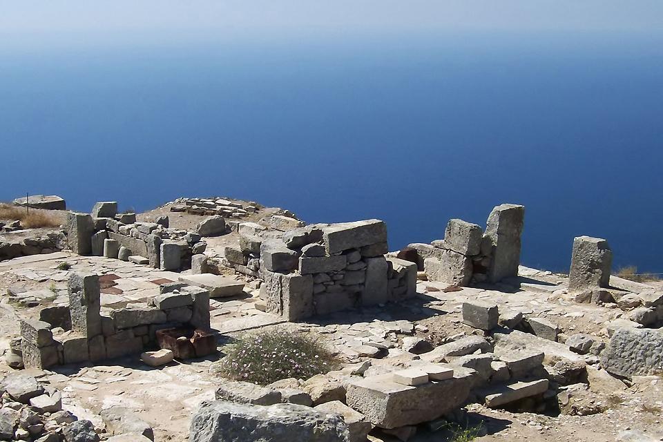 La cité antique de Thira et le site minoen d'Akrotiri (Santorin) , Les ruines d'Akrotiri , Grèce