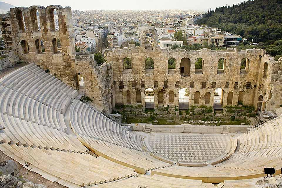 Attica , The Odeon of Herodes Atticus , Greece