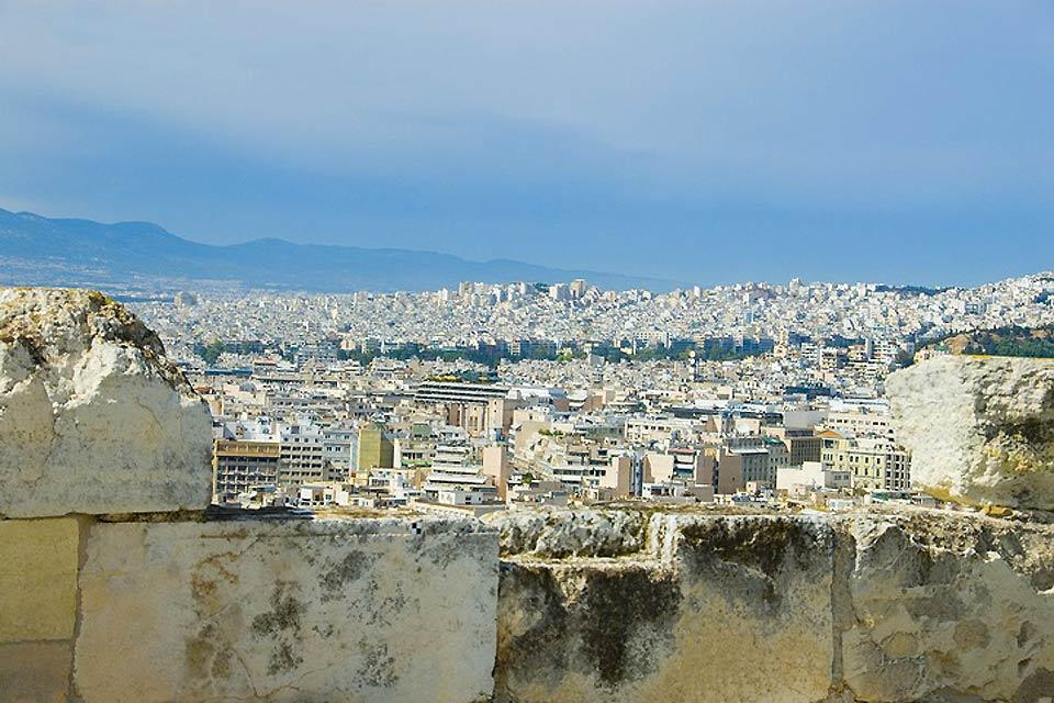 Attica , At the top of the Acropolis , Greece