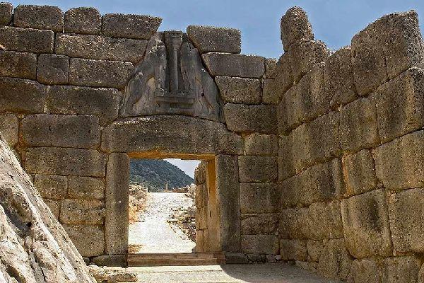 Le Péloponnèse , L'Acropole de Mycènes , Grèce