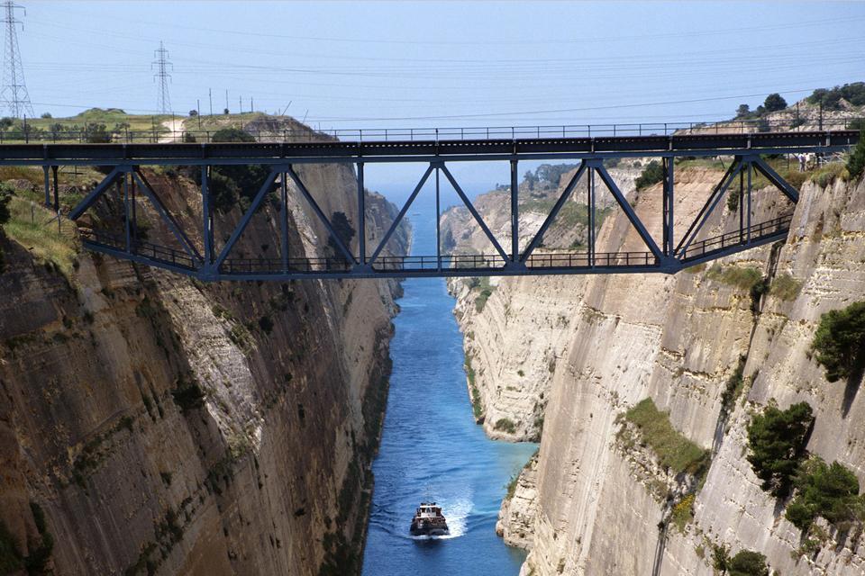 Le Péloponnèse , Le canal de Corinthe , Grèce
