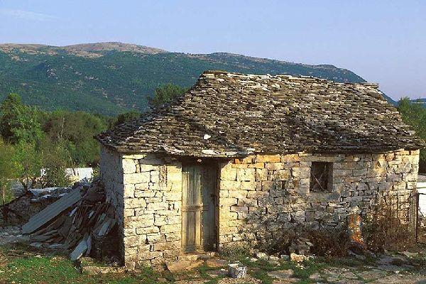 Epirus , Die Insel Nissaki , Griechenland