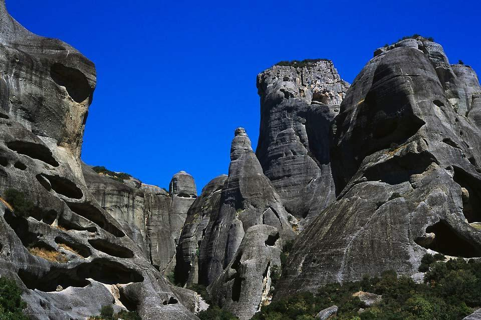 Thessaly , The rocky peaks of the Meteora , Greece