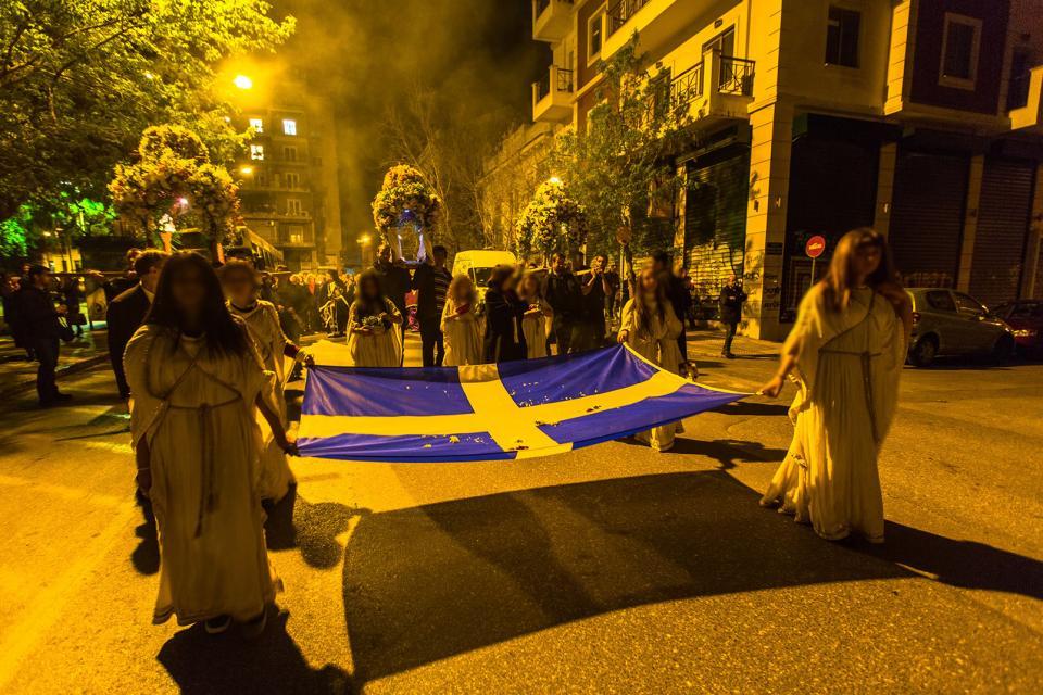 Les fêtes de Pâques , Grèce