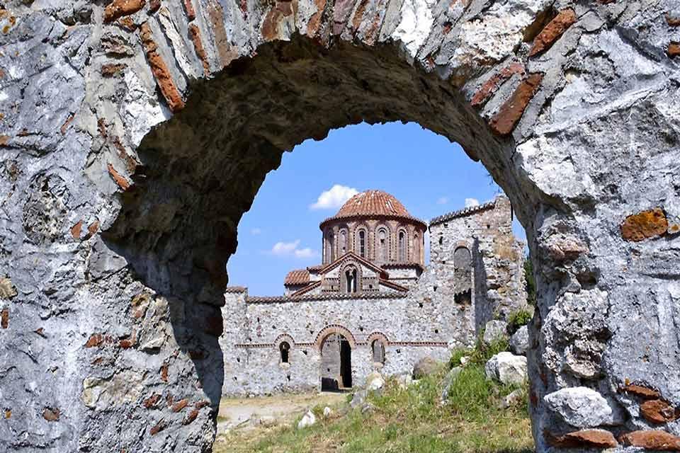 La cité byzantine de Mystra , Grèce
