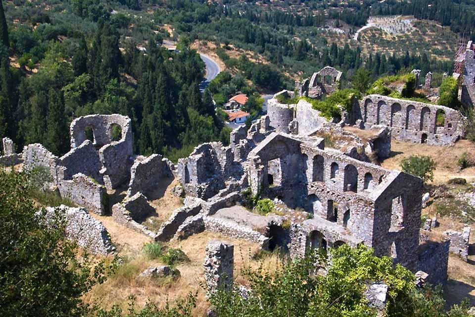La cité byzantine de Mystra , Les environs de Mistra , Grèce