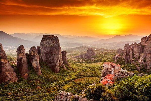 Los monasterios de los Meteoros , El monasterio de Aghia Triada , Grecia