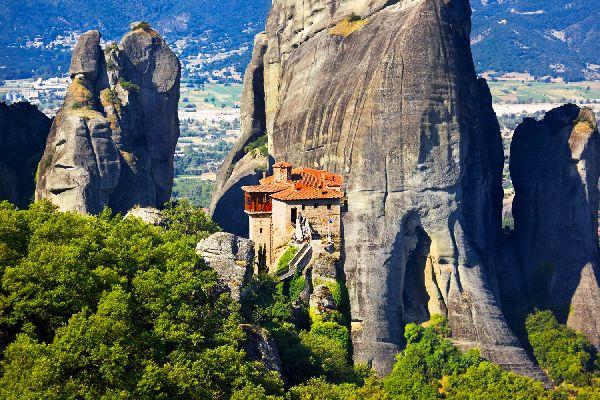 Los monasterios de los Meteoros , El monasterio de Roussanou , Grecia
