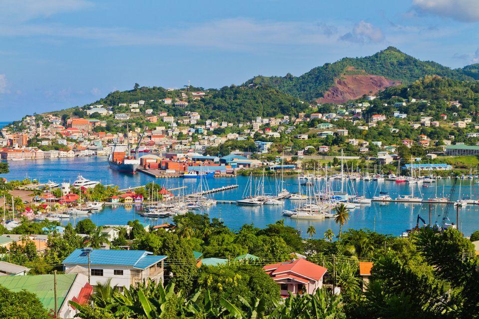 Les paysages, grenade, caraïbes, Antilles, amérique, amérique du nord, montagne, volcanique, volcan, port, saint-georges