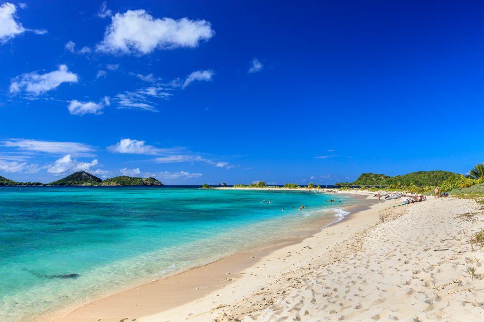 Les côtes, grenade, caraïbes, Antilles, amérique, amérique du nord, forêt tropicale, plage, sandy island, trois ilots